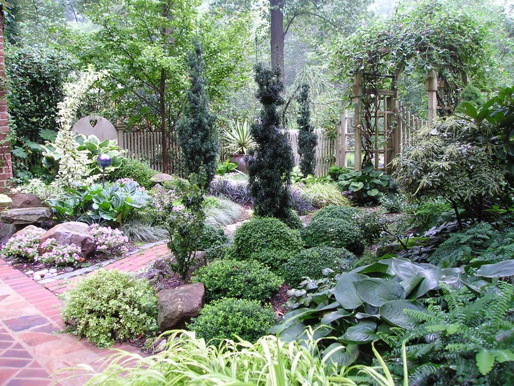 Small Shade Garden Ideas Backyards